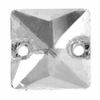 Crystal Sew-on Stone Square 8mm (4pcs) Crystal